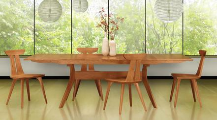 Handcrafted American Made Solid Walnut And Cherry Tables